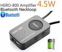 Wholesale Earbud Spy - new 10pcs lot Thin HERO-800 4.5 Watt Powerful Amplifier Professional Bluetooth Neckloop Loopset with wireless earpiece Earbud spy earpiece