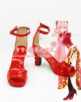 Wholesale Megurine Luka Costumes - Wholesale-Vocaloid Megurine Luka cosplay shoes boots New come #MM047 Halloween shoes