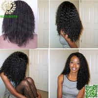 tam kinky curl peruk toptan satış-Brezilyalı İnsan Saç Tam Dantel Peruk Kinky Kıvırcık Dantel Ön İnsan Saç Peruk Afro Kinky Curl Saç Peruk