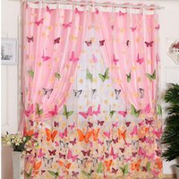 1pc Butterfly Print Sheer Curtain Panel Window Балкон Тюль Комната Divider Sheer Curtains E00610