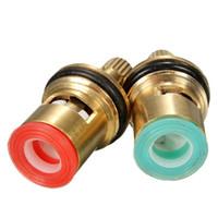 Wholesale Turn Faucet Tap - High Standard 2pcs 1 2 Ceramic Disc Cartridge Water Mixer Tap Inner Faucet Valve Quarter Turn The Best Price