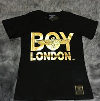 Wholesale New Boy London - The new boy london box gold letters Eagle pure cotton loose short - sleeved men and women T - shirt lovers
