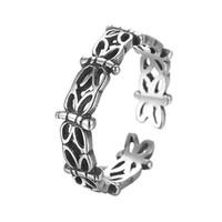 925 sterling silber libelle ring großhandel-5 teile / los Antike 925 Sterling Silber Schmuck für Frauen Vintage Hochzeit Nette Schmetterling Libelle Fingerringe