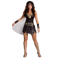 Sexy Costumes spartan warrior costume - Roman Spartan Queen Warrior Gladiator Halloween Womens Fancy Dress Costume Sexy Deluxe Egyptian Goddess Ladies Fancy Dress L1304