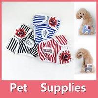 Wholesale Dog Clothing Sanitary - S-2XL Reusable Female Pets Dog Diapers Dog Sanitary Panty Dog Clothes Pet Apparel Pet Supplies 160919