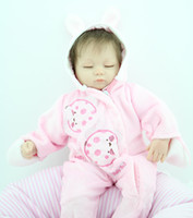 ingrosso nuove bambole reali-New Fashion 45 cm Baby Reborn Baby Dolls Realistica Doll Reborn Babies Giocattoli Soft Silicone Baby Toys Real Touch Lovely Neonato