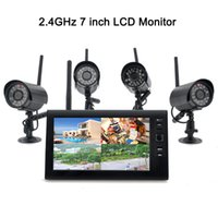Wholesale Wireless G CH Quad DVR quot TFT LCD Monitor Home Security Camera System