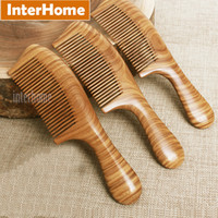 Wholesale Pure Sandalwood - Top Grade Ebony Hair Combs Precious South American Green Macassar Wood Exquisite Craft Sandalwood Fragrance Pure Handmade Gifts