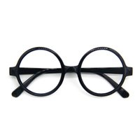 Wholesale Glass Owls - Harry Potter Glasses Cosplay Steampunk BLACK ROUND OWL GLASSES Harry Potter School Boy Naughty Girl Costume