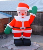Wholesale inflatable dolls free resale online - mH hot selling happy Christmas gifts inflatable Santa Claus inflatable doll for Christmas decoration with free air blower