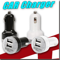 Wholesale Mini Usb Iphone 5c - Charger Round Mini Colorful Dual 2-Port USB Car Charger Adapter for iPhone 6 5 5S 5C 6s 4S iPad air mini Touch Samsung