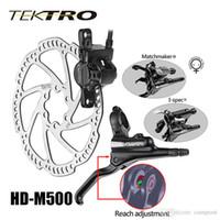 Wholesale Mountain Bike Disc Brake Levers - TEKTRO MTB HD-M500 Hydraulic Disc Brake Lever + Caliper Aluminum Bike Brke Size 86-90mm For Sale