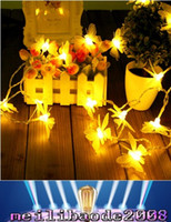 Wholesale Led Christmas Lights Butterfly String - 8M 70LED flower Christmas String Lights LED Romantic butterfly Fairy Lights Holiday Party Home Garden Deocration Lamp MYY
