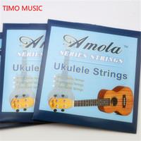 """Wholesale Wholesale Ukulele Strings - Original Amola Ukulele Strings Soprano Concert Tenor Ukulele Strings Nylon 21"""" 23"""" 26"""" Ukelele Aquila Strings Nylgut"""