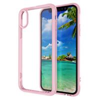 Wholesale Tpu Soft Bumper - Soft TPU Bumper Clear Hybrid Back Cover Defender Transparent Clean Case High Quality For iPhone X 8 7 Plus Samsung Galaxy S8 Plus