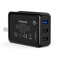 Wholesale original desktops - 2016 Original tronsmart USB 3 ports wall charger adapter support qualcomm quick desktop charge 3.0 US plug for all cellphone