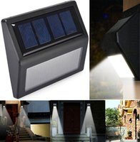 Wholesale Solar Lights For Steps - Outdoor Wall Step Lamps Solar Lights IP55 Solar Powered Auto Sensor Light for Modern Fixture Hallway Garden Stair Fence Wall Step Lighting