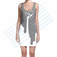 outer space dress - 2 Colors Custom Made Big Outer Space Spill grey purple D Sublimation Print Milk Silk Dress women clothing
