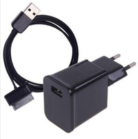 Wholesale Tab Usb Port - High Quality Wall Charger For Samsung Galaxy Tab 2 P1000 P7500 P7100 P6200 EU US Plug USB Port Wall Charger + USB Cable Tablet PC Charger
