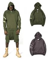 Wholesale Grey Zip Jacket - 2017 New Streetwear 90s Fashion Tracksuit Clothing Men Jacket Clothes Chris Brown Kanye Drake Zip Split Up Grey Hoodies Hip Hop
