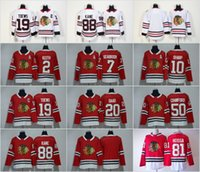 Wholesale Duncan Keith - 2018 Chicago Blackhawks 88 Patrick Kane 2 Duncan Keith 19 Jonathan Toews Crawford Marian Hossa Brandon Saad Sharp Seabrook Stitched Jerseys