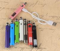 Wholesale Ecig Charges - UGO-V II 2 Battery vape 650 900mAH EVOD USB Passthrough Styled Ecig Battery Vape Micro USB 5 Pin Charging Fit eGo Atomizers