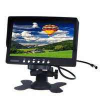 "Wholesale Input Av Tft Lcd Monitor - 7"" TFT LCD Car Rearview Color Monitor Camera Auto Rear View Security Monitor 2 AV Input"