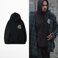 Men black white style - Anti Social Social Club Hoodies Black Pink White Hoody Sweatshirts Kanye West Style Streetwear Men Hoodies YHWY0071XX