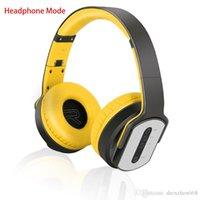 ubit bluetooth lautsprecher großhandel-Ubit Bluetooth Kopfhörer und Lautsprecher 2 in 1 tragbare faltbare Bluetooth Lautsprecher mit MIC FM Radio / AUX / TF Karte für Smartphone 40-EM