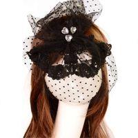 Wholesale Gothic Veils - Wholesale-Retro Style Gothic Lace Masquerade Veil Mask for Women Girl Dancer PartyHOT SALE