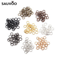 Wholesale jump rings connectors - 200pcs lot 5mm Open Jump Rings Bronze Gunblack Gold Rose gold Silver Rhodium Link Loops for DIY Jewelry Making Connector F309