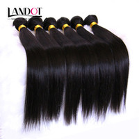 Wholesale Unprocessed Brazilian Hair 1kg - Unprocessed 8A Peruvian Malaysian Indian Brazilian Straight Virgin Remy Human Hair Weave Extensions 10 Bundles (1KG) Natural Black Color