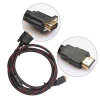 ingrosso lettore video di qualità-Ad alta qualità da 1,5 m 5 piedi cavo HDMI a VGA Adattatore video maschio-maschio per HDTV HD Player Cavo adattatore HDMI