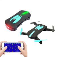 retalho de helicópteros venda por atacado-Mini Bolso Drone Jy018 Smartphone Controle Remoto RC Dobrável Quadcopter Drones Helicóptero Com 0.3MP Wifi FPV Camera Retail Package