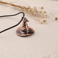 Wholesale Sterling Silver Leather Jewelry Wholesale - 2016 Harry Magic Cap Necklace Restoring Ancient Ways 3.1*3.5cm Zinc Alloy ZJ-0903072 925 sterling silver jewelry