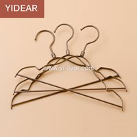 Wholesale Dress Child Garment - Yidear 29.5cm vintage small children hanger flat metal wire hangers with notches for kids clothes store