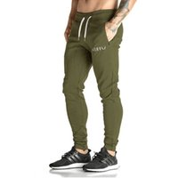 Wholesale Gasp Pants - Wholesale-2016 New Fashion Men's GASP&GOLDS Sports Gym Pants,Elastic cotton Male Fitness Workout Pants,Sweatpants Trousers Jogger