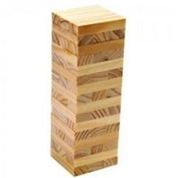 Wholesale Toy Building Blocks Wood - 48 PCs Wooden Tower Wood Building Blocks Toy Domino Stacker Extract Building Educational Jenga Game Gift