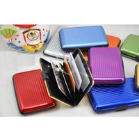 Wholesale Aluminium Wallets Free Shipping - Hot Aluminium Credit Card Wallet Antimagnetic Card Holder Waterproof Aluma Wallet Variable Colour For Free Shipping YC2020