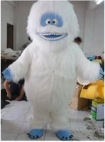Wholesale Suit Canvas - 2016 White Snow Monster Yeti Mascot Costume Adult Abominable Snowman Monster Mascotte Outfit Suit Fancy Dress EMS free shipping