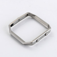 Wholesale Fitness Shells - Metal Frame For Fitbit Blaze Watch Tracker Band Stainless Steel Housing Holder Shell Silver Black Fitness Accessories