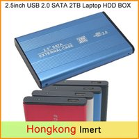 Wholesale 2tb Usb Wholesale - Free DHL 2.5inch USB 2.0 SATA 2TB External Storage Hard Disk Drive HDD Case Box Enclosure Converter Adapter Connector