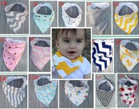 Wholesale Infant Girl Chevron - 17 Styles Baby Bibs 100%Cotton Dot Chevron Bandana Bibs Infant Babador Saliva Bavoir Towel Baberos For Newborn Baby Girls Boys