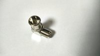 Wholesale Bathroom Screws - 4PCS COPPER F Type Female Screw to F Male Push On Right Angle FOR TV Adaptor