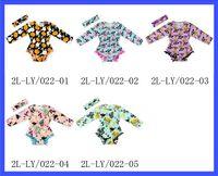 Wholesale Long Sleeve Newborn Girls Bodysuits - 2016 infant baby Girl onesies Bodysuits Halloween Cotton Long Sleeve Toddler Overalls Tassels Ball Headband Newborn Clothes 0-3T 3020