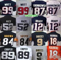 donna 52 Clay Matthews 89 Cooper 99 jj watt 12 Tom Brady 87 Rob Gronkowski 9 Drew Brees 84 antonio marrone Manning donna Nero Bianco Rosso Blu