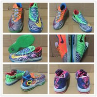 Wholesale Kevin Durant Low Tops - 2016 Hot Sale Kevin KD 6 VI Elite Mens Basketball Shoes What the Durant Aunt Pearl BHM All Star Top quality Sneakers Size us 7 8 9 10 11 12