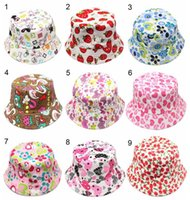 Wholesale crochet hats for sale - baby caps hats Children flower pots canvas sun hat children s temperament casual sun Lovely Baby boy girl Beanies