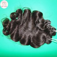 Wholesale Sweet Machines - Sweet Girl Love 8A Virgin Peruvian Body Wave Hair Factory Price Wefts 300g lot Wavy Curls