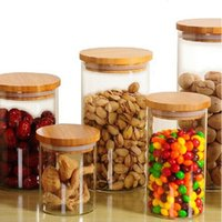 Wholesale transparent glass tube storage tank Cork sealed cans The candy jar ml and retail